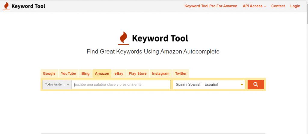 keyword tool amazon